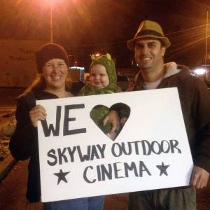 Fans express their affection for the Skyway Outdoor Cinema.