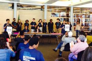 Freedom School students speak  at Seattle City Hall
