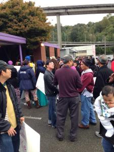 SEIU Local 6 members gather at union offices.