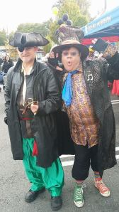 Rainier Beach residents in (what we're hoping is) costume at the Rainier Beach Boo Bash