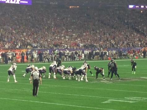 Susan's view of Super Bowl 49.