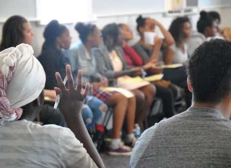 Freedom School students listen intently during a session. Photo Credit: Celia Berk