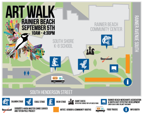 Art Walk Rainier Beach 2015 Map