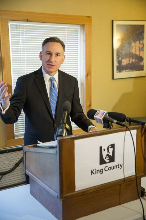 King County Executive Dow Constantine speaks at Tuesday's press conference. (photo: Alex Garland)