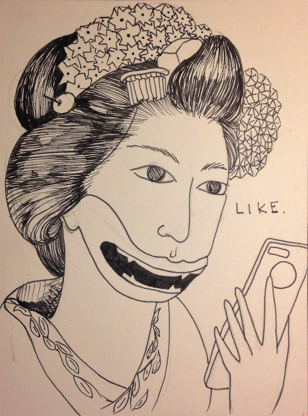 Drawing by Hanako O'Leary - Revolutionary Women 02