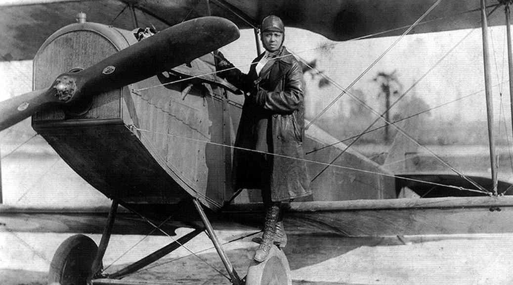 Bessie Coleman (1922, Public Domain image)