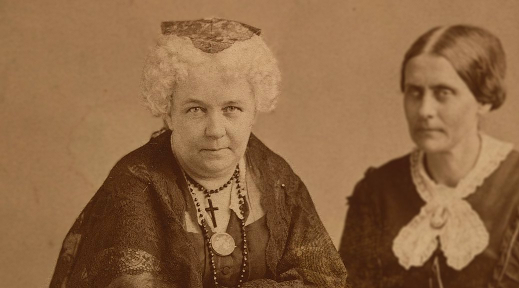 Elizabeth Cady Stanton and Susan B. Anthony (Public Domain image)