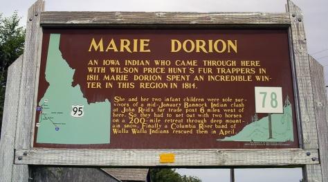Marie Dorion Marker - Revolutionary Women