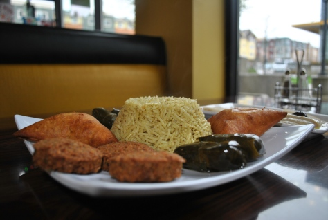 Plate of Nations Vegetarian Platter $15