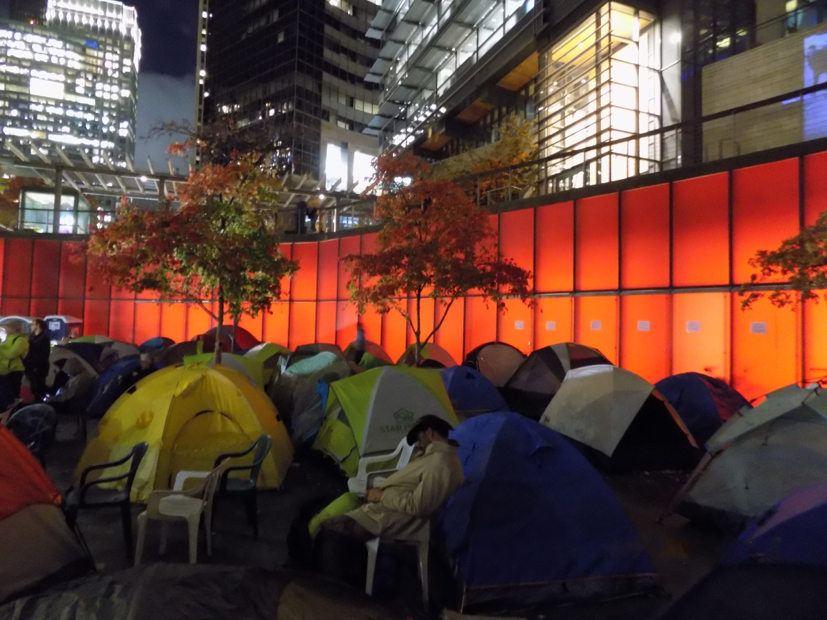 Protesters Occupy City Hall Overnight For Budget Hearing