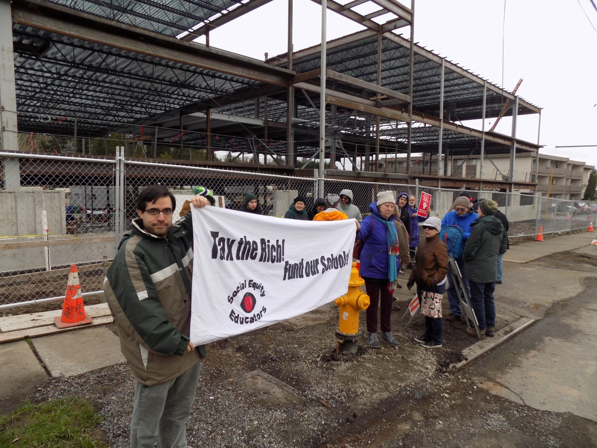 Protestors Oppose Rainier Valley Charter School Construction