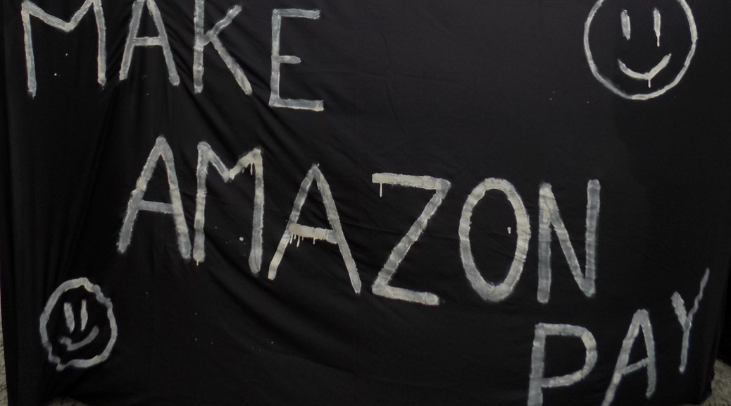 Protestors Gather at Amazon Distribution Center over Status